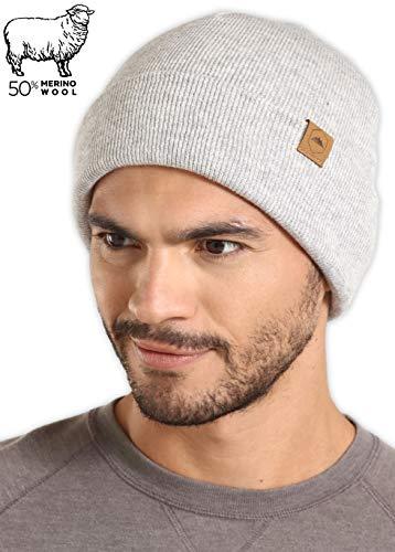 6fee76cd358 Tough Headwear Merino Wool Cuff Beanie Watch Cap - Warm