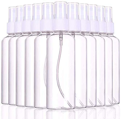20 Packs Spray Bottle Refillable Perfume Atomizer Transparent Small Empty Fine Mist Sprayer Plastic Bottle (1.7oz/50ml)