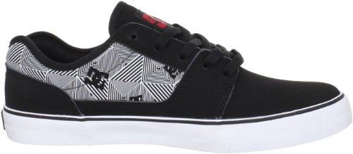 Dc Mens Bristol Tc Lace-up Mode Sneaker Noir / Blanc / Athlétique Rouge