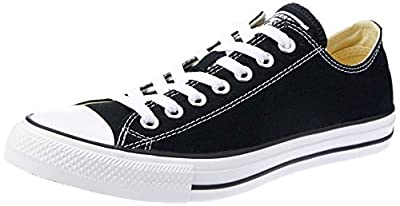 Converse Unisex Chuck Taylor All Star Ox (13.5 B(M) US Women / 11.5 D(M) US Men, Black/White)