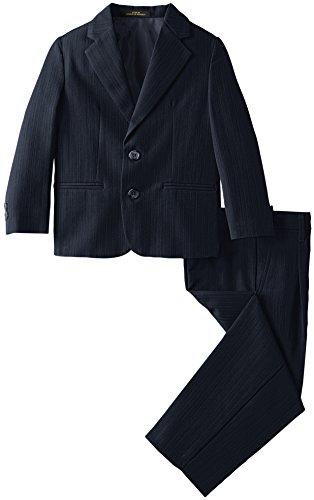 Arrow Little Boys' 2B SB Texture Stripe Suit, Dark