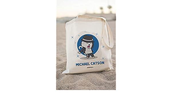 Okemaku Tote Bag Mensaje Michael Catson Parodia Michael