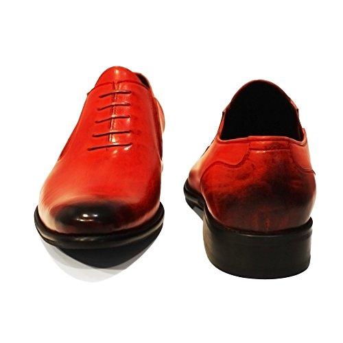Slip Cuero Mano Rojo Cuero Mano Piel A Hecho a Loafers Ons y Ponerse Modello Italiano Blodo Mocasines Hombre Cuero Pintado wxqPq4A6S