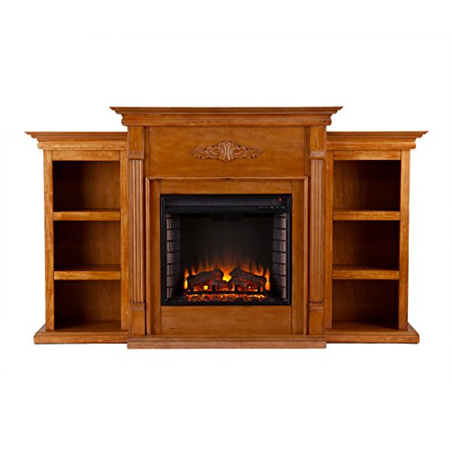 Southern Enterprises Tennyson Electric Fireplace with Boo...