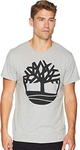 Timberland Men's Short Sleeve Seasonal Logo Tee Medium Grey Heather Tree Medium