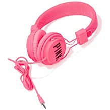 Victorias Secret PINK DJ Headphones Neon Hot Pink + BONUS VS Decal