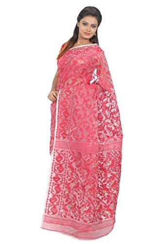 B3Fashion Traditional Handloom Half N Half Pure Dhakai Jamdani Silk Saree