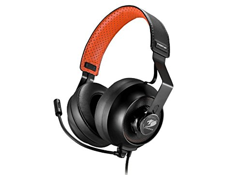 Cougar Console (Cougar Phontum Universal Gaming Headset - 53MM Driver with Graphene Diaphragm - Detachable Microphone with Noise Cancellation Technology - Two Sets of Ear Pads for Gaming/Home Use)