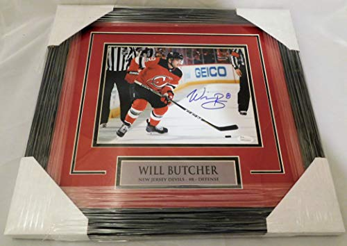 Will Butcher SIGNED/AUTOGRAPHED and Framed New Jersey Devils 8x10 Photo (A) JSA COA