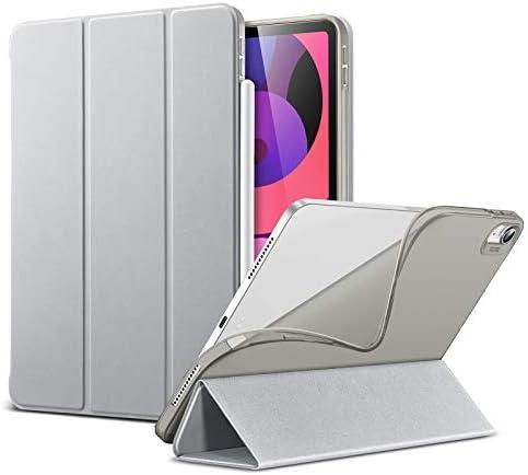 ESR Slim Cover Compatibile con iPad Air 4 (2020) 10.9″ [Due Modi di Piegatura e inclinazione] [Custodia Posteriore Morbida in TPU] Serie Rebound – Grigio