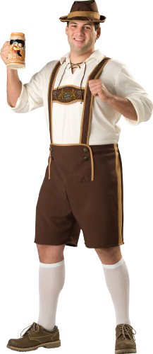 InCharacter Costumes, LLC Men's Bavarian Guy Costume, Brown/Tan, XX-Large (Lederhosen Fancy Dress Costumes)