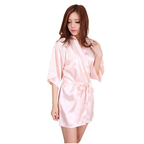 Allattamento Camicie Pigiami Vestaglie da Kimono Accappatoi WYSMOL Notte Rosa e Corto Donna chiaro e Raso qC0xwfZv