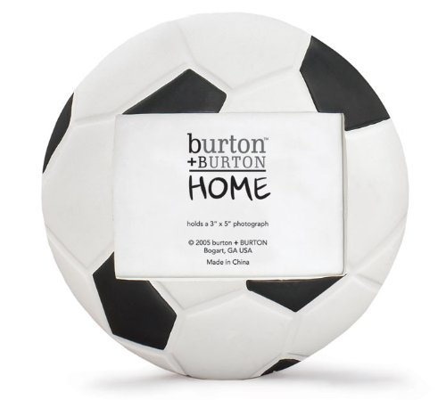 Soccer Ball (Football) Shaped Picture Frame - Perfect for Sports Team Photo!