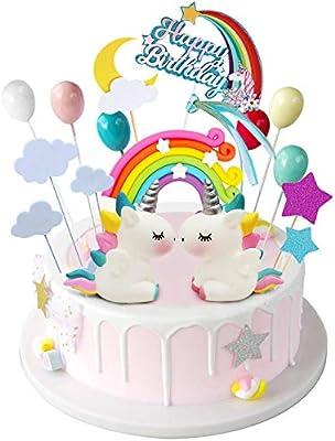 iZoeL - Decoración para tarta, diseño de unicornio