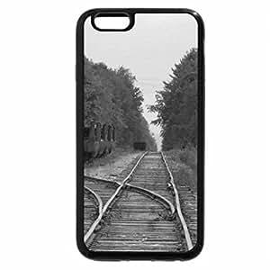 iPhone 6S Plus Case, iPhone 6 Plus Case (Black & White) - track to no where