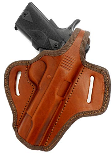 Cebeci Arms Brown Leather OWB Right Hand Thumb Break Belt Holster for COLT Kimber Ruger Taurus Springfield Browning Remington CZ 5