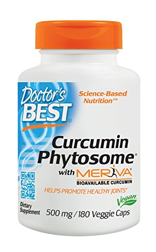 Doctor's Best Curcumin Phytosome with Meriva, Non-GMO, Vegan, Gluten Free, Soy Free, Joint Support, 500 mg 180 Veggie Caps