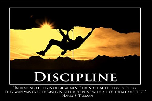 Discipline-Harry S. Truman Motivational Poster Home Decorative painting Wall -High quality Picture