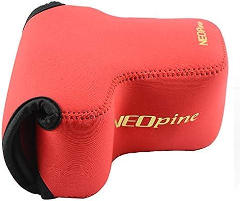 Rojo Funda Camara de Fotos Digital Camara Reflex Neopreno Estuche para Sony Alpha ILCE A6100 A6600 A6400 A6500 A6300 A6000 NEX7 18-135mm Lens: Amazon.es: Electrónica
