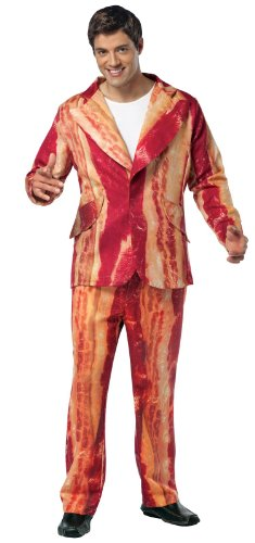 [Rasta Imposta Bacon Suit, Brown, Adult Large] (The Best Halloween Costumes Ever Made)