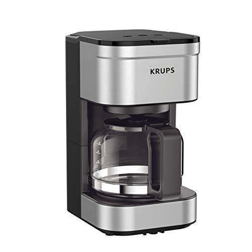 Krups KM202850 Simply Brew Coffee Maker, 5 Cup, Silver