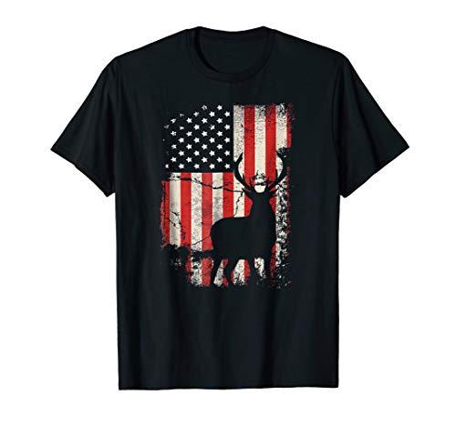 - Deer Hunting Flag T-Shirt