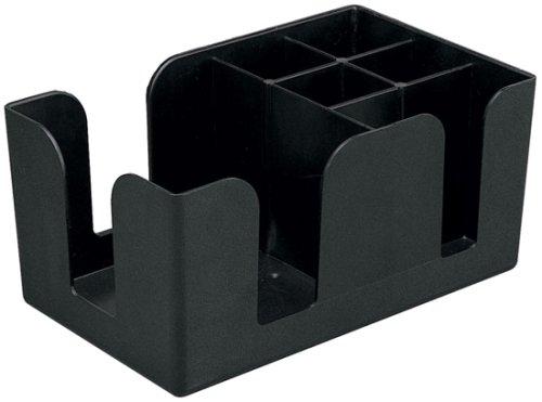 6-Compartment Counter-Top Bar Caddy, Barware Caddy, Bar Caddy Napkin Dispenser, Straw Organizer (1, A)