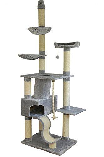 nanook katzen kratzbaum sigurd gro xxl deckenhoch 275 cm gro e h hle 2 liegemulden schwer. Black Bedroom Furniture Sets. Home Design Ideas