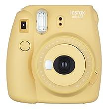 Fujifilm Instax Mini 8+ (Honey) Instant Film Camera + Self Shot Mirror for Selfie Use - International Version