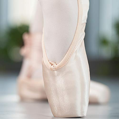Pointe Pantofola E Danza Balletto Silicone Nastro Con Rosa Scarpe Punta Da qROfXE