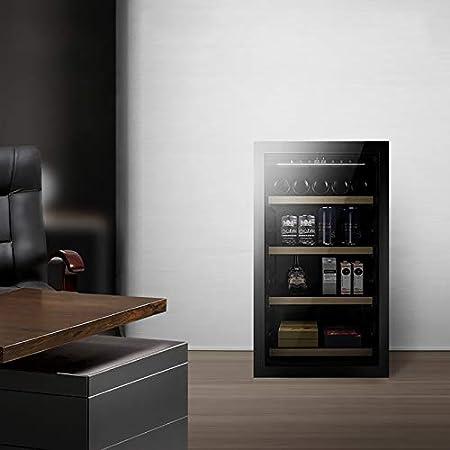 VIY Nevera vinos refrigerador refrigerador Grande Independiente Bodega para Rojo, Blanco, champán o Vino espumoso Control de Temperatura Digital Nevera