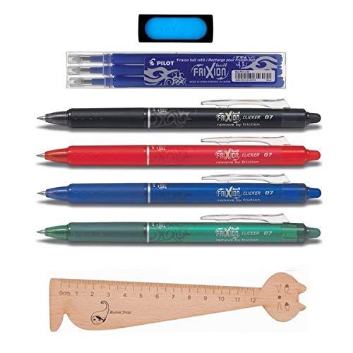 gomma Frixion 1/scatola di 3/ricariche blu penna sfera blumie Shop Set 4/penne Pilot Frixion Ball Clicker