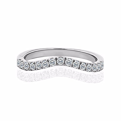 0.22 Ct Diamond Band - 8