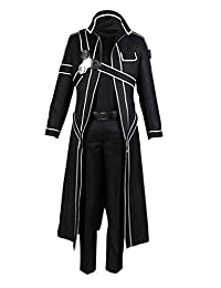 DAZCOS US Size Men's Sword Art Online Kirito Cosplay Costume