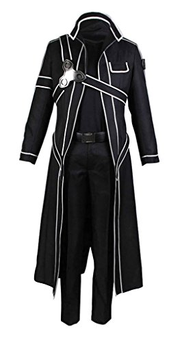 Sword Art Online Kazuto Kirigaya Cosplay Costume (Dazcos US Size Men's Sword Art Online Kirito Cosplay Costume (Men M))