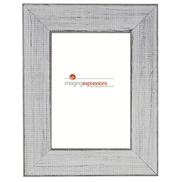 "White Coloured Wooden Photo Frame 5/""x7/"" Picture"