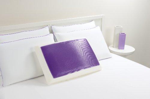 Comfort Revolution Hydraluxe Wave Gel Bed Pillow, Purple