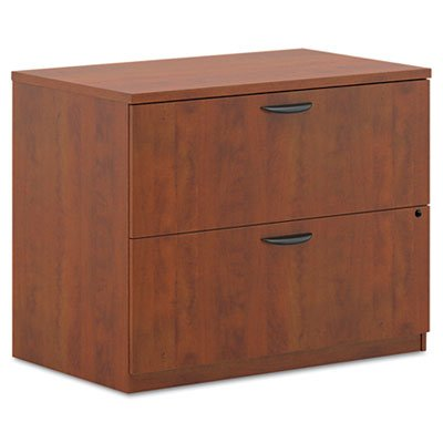 Medium Cherry Lateral File (BL Laminate Two Drawer Lateral File, 35 1/2w x 22d x 29h, Medium Cherry, Sold as 1 Each)