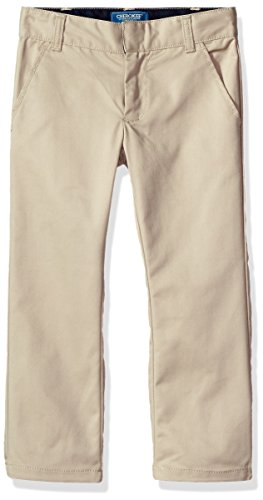 Adjustable Khaki Waist (Cherokee Big Boys' Uniform Classic Fit Twill Pant With Adjustable Waist, Khaki, 12)