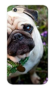 Ednahailey Case Cover Protector Specially Made For Iphone 6 Dog Pug Garden Flowers Face Eyes