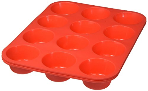 Silicone Muffin pan Cupcake Baking Pan Tray -24 Cup ( set of 2 with 12 cup ) -100% Pure Food Grade Non-stick Silicone- BPA free -Heat Resistant upto 450° F!!