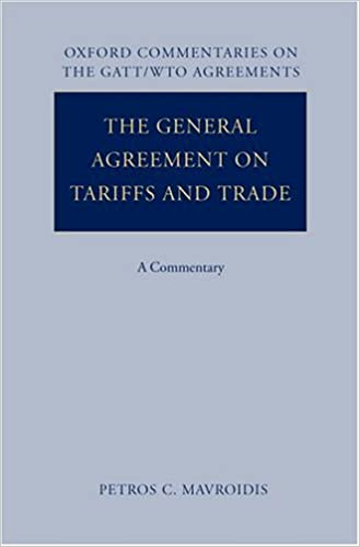 Buy The General Agreement On Tariffs And Trade A Commentary Ox