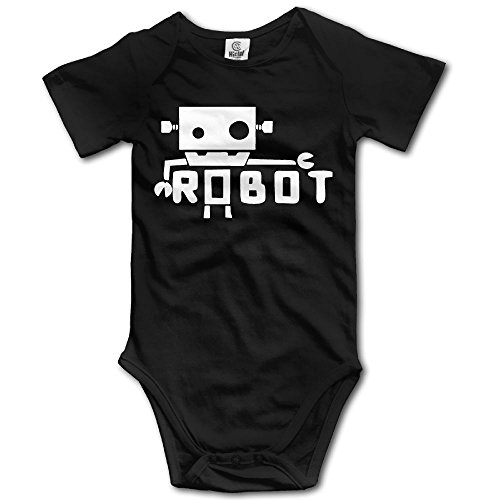 - SmallHan Creative Robot Unisex Classic Toddler Romper Baby Girl Vest 18 Months Black