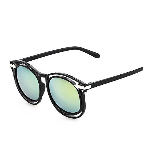 Aoligei Lunettes de soleil rétro flèche fashion tendance couleur film couleur lumineuse réfléchissant lunette de soleil fIRgLZgJq