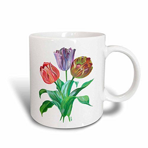 - 3dRose Flowers Tulips Ceramic Mug, 11-Ounce