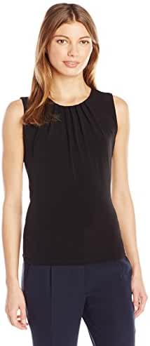 Calvin Klein Women's Sleeveless Pleat Neck Cami