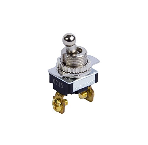 Battery Ac 6v Industrial (Gardner Bender GSW-124 Electrical Toggle Switch, SPST, ON-OFF, 6 A/120V AC, Screw Terminal)