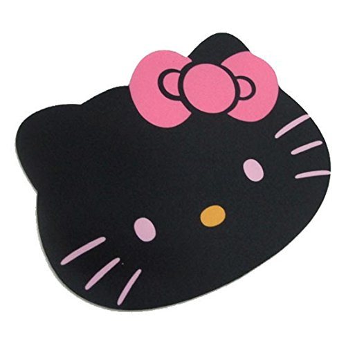 IBTS®Hello Kitty Laptop Computer Mouse Pad Mat Pink/Black color (Black)