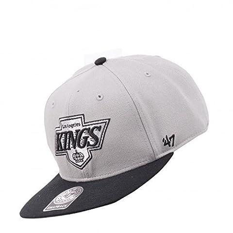 Los Angeles Kings NHL Vintage Gray Sure Shot Two Tone 47 Brand Flatbill Snapback Hat (Los Angeles Kings Hat 47)