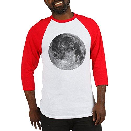 CafePress - Beautiful Full Moon - Cotton Baseball Jersey, 3/4 Raglan Sleeve (Moon Baseball Jersey)